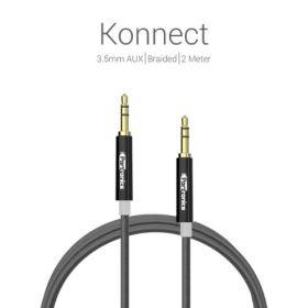 Portronics Premium Konnect 3.5Mm Aux/Braided /2 Meter Audio Cable