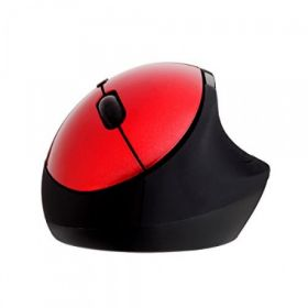 Portronics Puck Wireless Mouse With Usb 2.0 Port (Red)