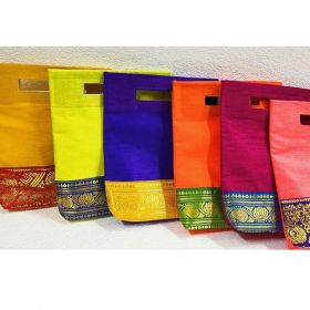 Jute Bags with Silk coated