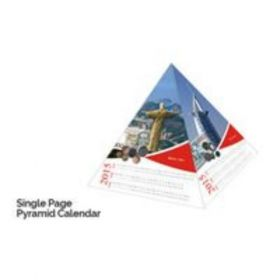 "Single Page Pyramid Calendar 6"" X 6"" X 5""(20 Pcs)"