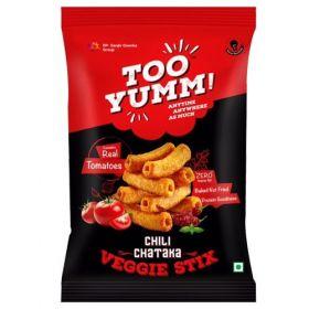 Too Yumm! Veggie Stix - Chilly Chataka, 28 gm (Pack of 108)