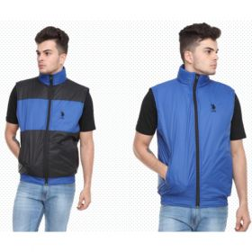 U.S. Polo Assn. Reversible Sleeveless Jacket - Black And Royal Blue(L)