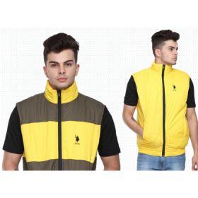 U.S. Polo Assn. Reversible Sleeveless Jacket - Grey And Yellow(Xxl)