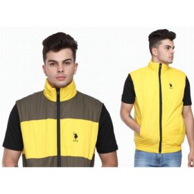 U.S. Polo Assn. Reversible Sleeveless Jacket - Grey And Yellow(L)