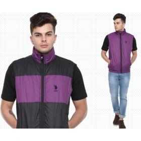 U.S. Polo Assn. Reversible Sleeveless Jacket - Purple And Black(Xxl)