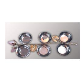 Serving 6 Bowl Set (AI-LT-28) - Brass & Steel