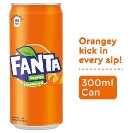 Fanta Soft Drink - Orange Flavour, 300 ml (Pack of 24)