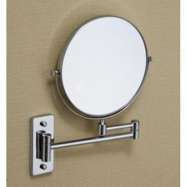 Magnifying Mirror - 5X -8 Inch - Rectangular Stand Color : Silver