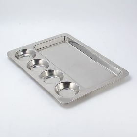 Stainless Steel Plates Big - Pack Of 10