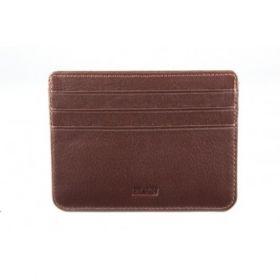 Elan Classic Lth Basic Card Holder- Brown
