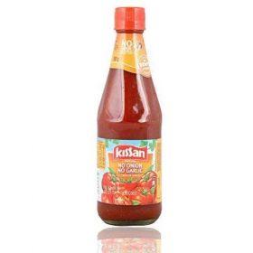 Kissan No Onion No Garlic Sauce Bottle, 500 Grams