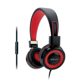 Portronics Aural 202 Wired Headphones With In-Line Mic-Red