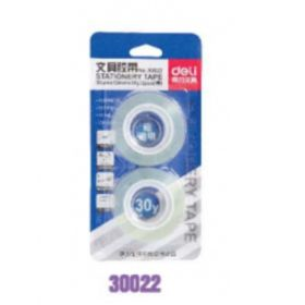 Deli 30022 Stationery Tape (Clear) 38Um*12Mm*30Y - 1 Pc